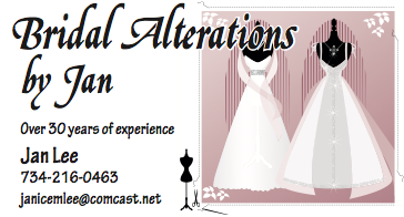Bridal Alterations by Jan