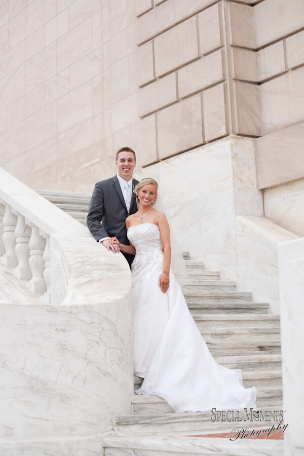 Downtown Detroit  The DIA wedding photograph
